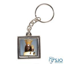 Chaveiro Quadrado Giratório de Nossa Senhora do Loreto