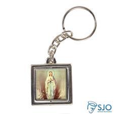 Chaveiro Quadrado Girat�rio de Nossa Senhora de Lourdes