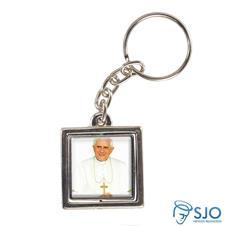 Chaveiro Quadrado Giratório do Papa Bento XVI