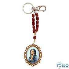 Chaveiro de Madeira Nossa Senhora das Dores