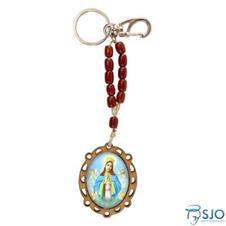 Chaveiro de Madeira Nossa Senhora da Guia