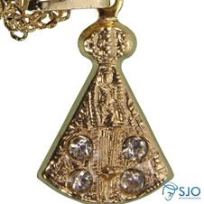 Colar Folheado a Ouro Nossa Senhora Aparecida