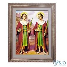 Quadro - São Cosme e Damião - 52 cm x 42 cm