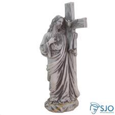 Imagem de Mármore Sagrado Coração de Jesus - 28 cm