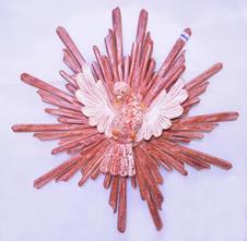 Divino Esp�rito Santo Raio Duplo - 65 cm