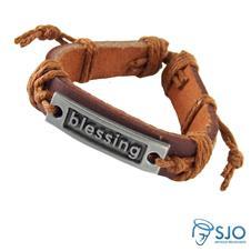 Pulseira de Couro Blessing