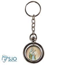 Chaveiro Redondo Girat�rio - Nossa Senhora da Esperan�a