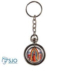 Chaveiro Redondo Giratório - Nossa Senhora de Guadalupe