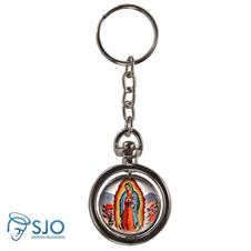 Chaveiro Redondo Girat�rio - Nossa Senhora de Guadalupe