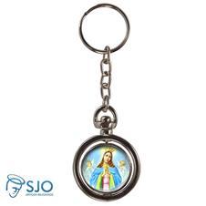 Chaveiro Redondo Giratório - Nossa Senhora da Guia