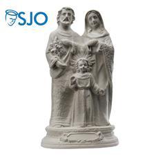 Imagem de Gesso Sagrada Família - 20 cm