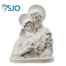 Imagem de Gesso Sagrada Família Busto - 20 cm