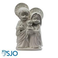 Imagem de Gesso Sagrada Família Infantil - 14 cm