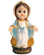 Imagem Infantil de Nossa Senhora das Graças - 10 cm