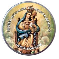 Latinha Personalizada de Nossa Senhora do Monte Serrat