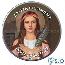 Latinha Personalizada de Santa Filomena