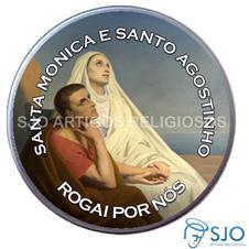 Latinha Personalizada de Santa M�nica e Santo Agostinho