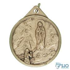 Medalha Redonda Nossa Senhora de Lourdes 3.2 cm