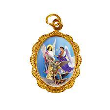 Medalha de Alumínio Arcanjos Dourado