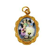 Medalha de alumínio do Anjo da Eucaristia