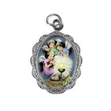 Medalha de alumínio do Anjo da Eucaristia Níquel
