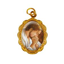 Medalha de alumínio - Jesus Orando - Mod. 2