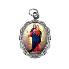 Medalha de alumínio - Nossa Senhora Auxiliadora - Mod. 1