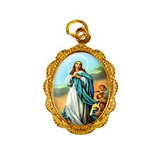 Medalha de alumínio - Nossa Senhora da Imaculada Conceição - Mod. 1