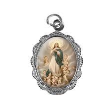 Medalha de alumínio - Nossa Senhora da Imaculada Conceição - Mod. 2 Níquel