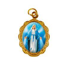 Medalha de alumínio - Nossa Senhora das Graças - Mod. 3 Dourado
