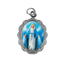 Medalha de alumínio - Nossa Senhora das Graças - Mod. 3 Níquel