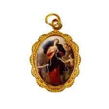 Medalha de alumínio - Nossa Senhora Desatadora dos Nós Dourado