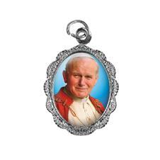 Medalha de Alumínio - Papa João Paulo II - Modelo 02 Níquel