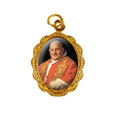 Medalha de Alumínio - Papa João XXIII - Modelo 2 Dourado