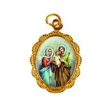 Medalha de Alumínio - Sagrada Família Dourado