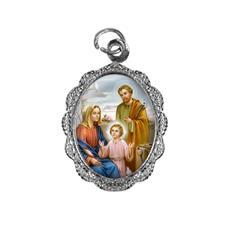 Medalha de Alumínio - Sagrada Família - Modelo 02 Níquel