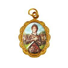 Medalha de alumínio - Santa Joana D' Arc