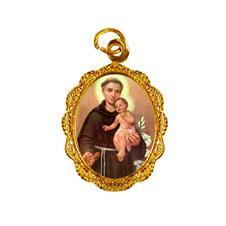Medalha de alumínio - Santo Antonio - Mod. 2 Dourado