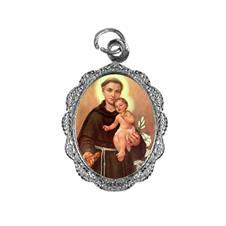 Medalha de alumínio - Santo Antonio - Mod. 2 Níquel