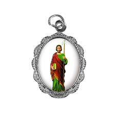 Medalha de Alumínio - São Judas Tadeu - Modelo 03 Níquel
