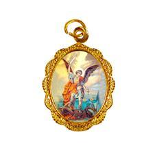 Medalha de alumínio - São Miguel Arcanjo Dourado