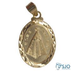 Medalha Oval Nossa Senhora Aparecida Diamantada