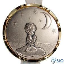 Medalhão de Berço - Menino Orando