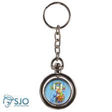 Chaveiro Redondo Girat�rio - Nossa Senhora do Perp�tuo Socorro