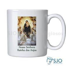 Caneca Nossa Senhora Rainha dos Anjos com Ora��o