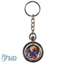 Chaveiro Redondo Girat�rio - Nossa Senhora do Ros�rio