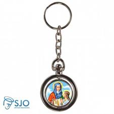 Chaveiro Redondo Giratório - Nossa Senhora de Santana