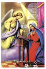 Santinhos de Ora��o Anjo Gabriel