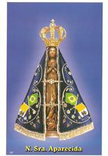 Santinhos de ora��o Nossa Senhora Aparecida