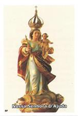 Santinhos de Oração Nossa Senhora D' Ajuda